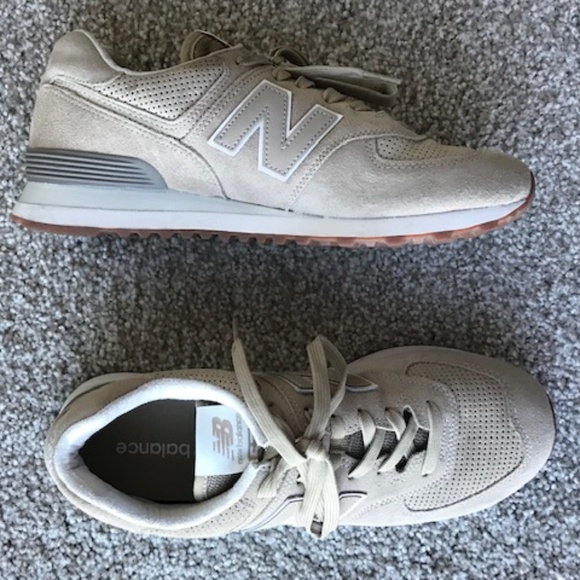 online store 187ad 190ac New Balance ML574ESF Brown/Tan/Beige Trainers